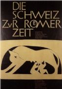 Vintage swiss poster - Switzerland of Roman Times 1957